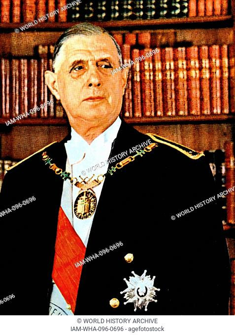 Charles de Gaulle (1890 – 1970); French general and statesman. He was the leader of Free France (1940–44) and the head of the Provisional Government of the...