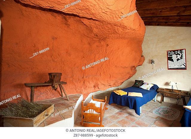 Al-axara troglodytic house, Ribera de Cubas, La Manchuela, Albacete province, Castilla-La Mancha, Spain