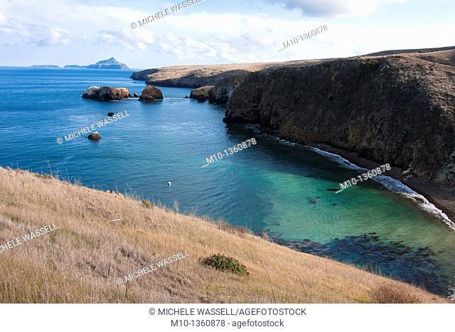 Anacapa Island in view from Cavern loop trail on Santa Cruz Island