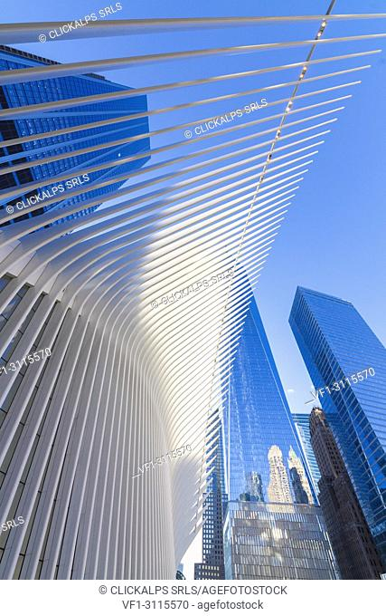 The Oculus building by Santiago Calatrava, One World Trade Center, Lower Manhattan, New York City, USA