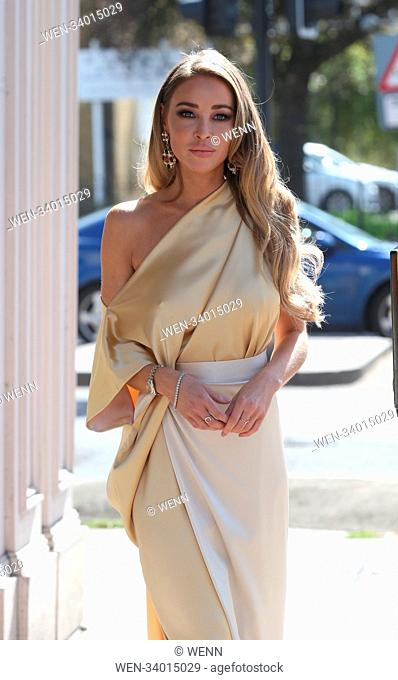 The cast of 'TOWIE' filming a 1920's themed event at the George Tavern in East London Featuring: Lauren Pope Where: London