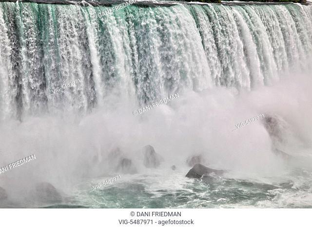 Niagara Falls in Ontario, Canada. - NIAGARA FALLS, ONTARIO, CANADA, 08/07/2015
