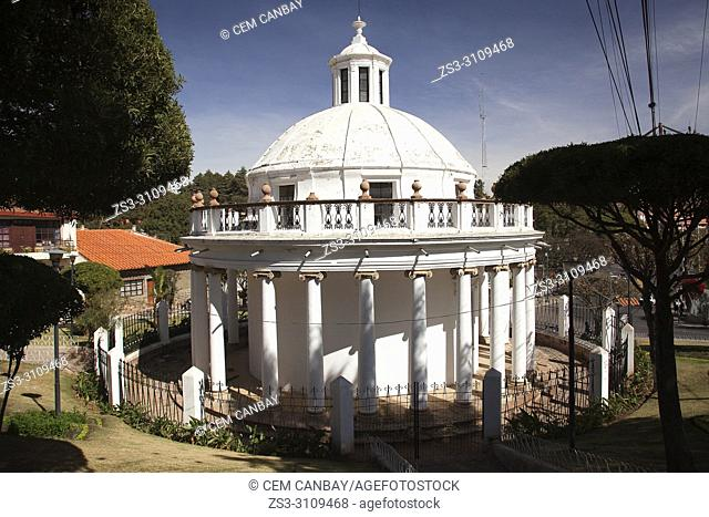View to the colonial building La Rotonda in the historic center, Sucre, Chuquisaca Department, Bolivia, South America