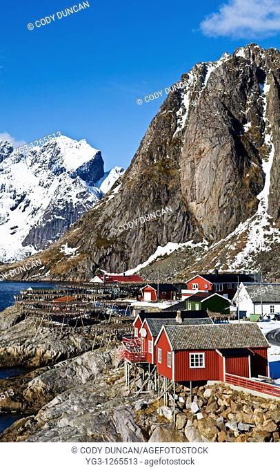 Hamnøy village, Lofoten islands, Norway