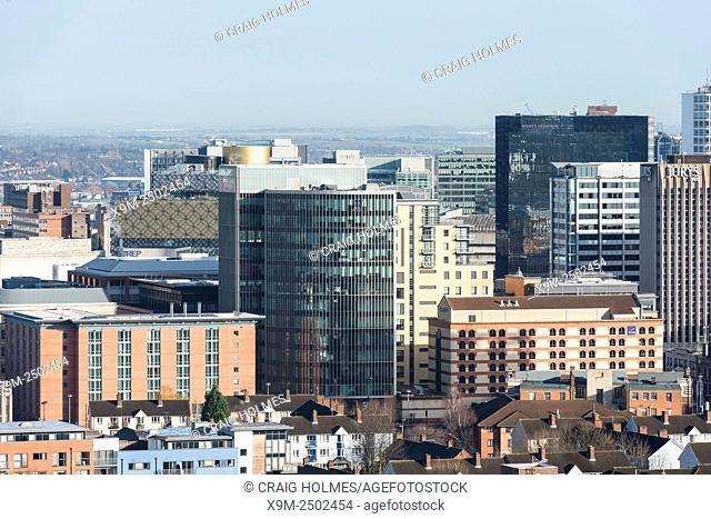 Office buildings in Birmingham, as seen from the Hagley Road