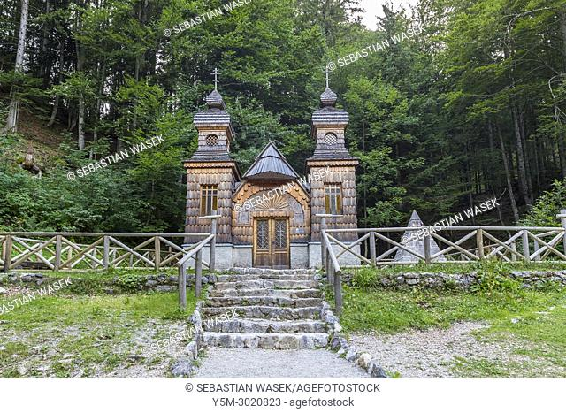 Russian Chapel on the Vrsic Pass, Kranjska Gora, Upper Carniola, Slovenia, Europe