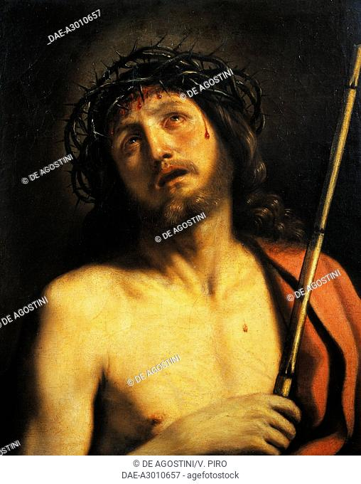 Ecce Homo, by Giovanni Francesco Barbieri, known as Il Guercino (1591-1666), oil on canvas, 65x53 cm.  Rome, Galleria Nazionale D'Arte Antica Di Palazzo Corsini...