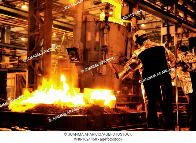 Steel foundry in the Basque Country