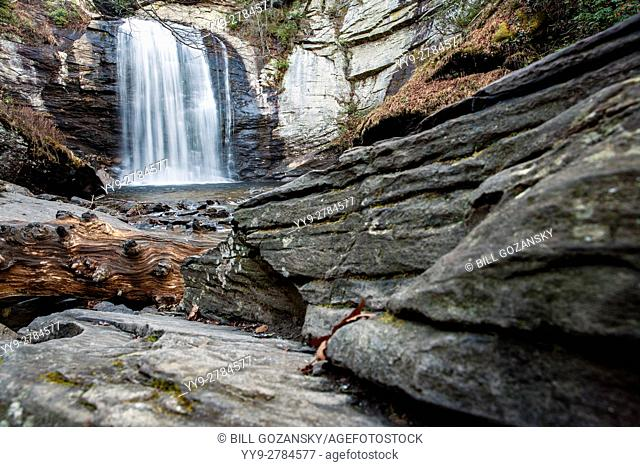 Looking Glass Falls - Pisgah National Forest - near Brevard, North Carolina USA