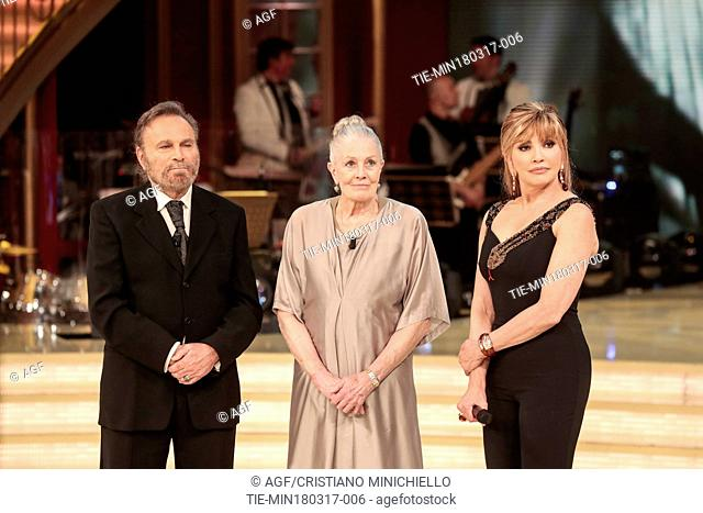 Franco Nero with his wife Vanessa Redgrave attend 'Dancing with the Stars' TV show, Rome, Italy - 18 Mar 2017