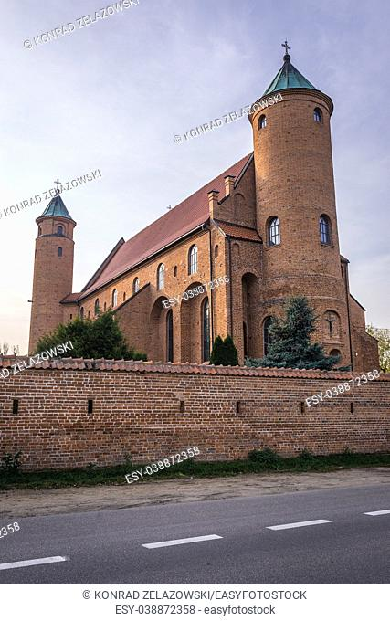 16th century Basilica of Saint John the Baptist fortified church in Brochow village in Masovian Voivodeship of Poland