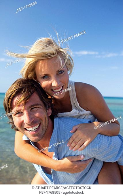 Young couple on the beach