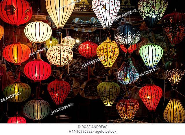 Shop with Lampions, Hoi In, Vietnam, South-East Asia, Asia