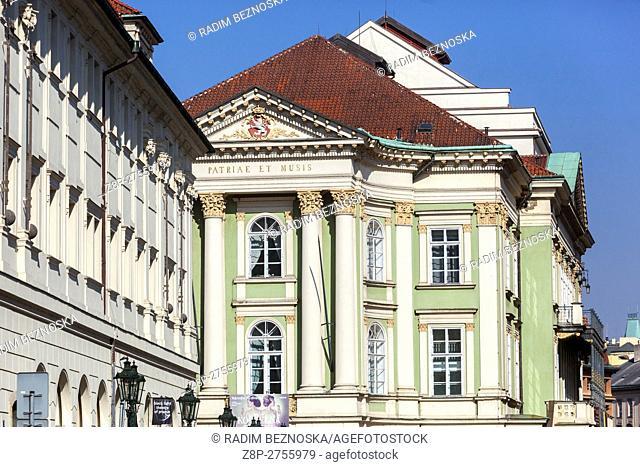 Czech Republic, Prague, The Estates Theatre or Stavovské divadlo is a historic theatre in Prague. premiered Mozart's Don Giovanni