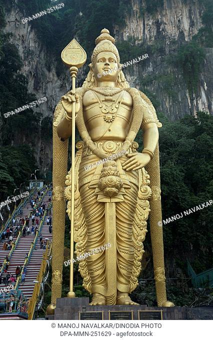 Murugan statue batu caves, kuala lumpur, malaysia, asia