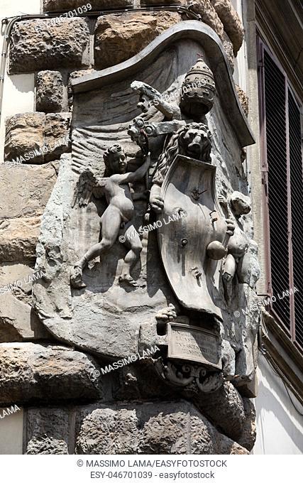 Piazza della Signoria in Florence, Italy; details