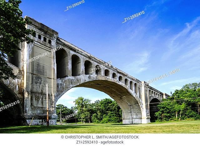 The Big Four Railway Bridge, Sidney Ohio. It has carried rail traffic since 1923