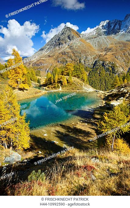 Lac Bleu, Grande Dent de Veisivi, Valais, Switzerland