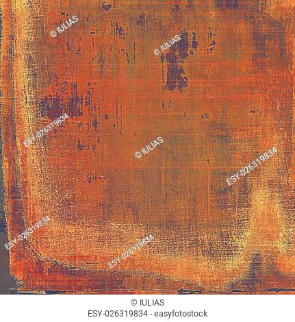 Vintage texture, old style frame decoration with grunge graphic elements and different color patterns: yellow (beige); brown; red (orange); purple (violet)