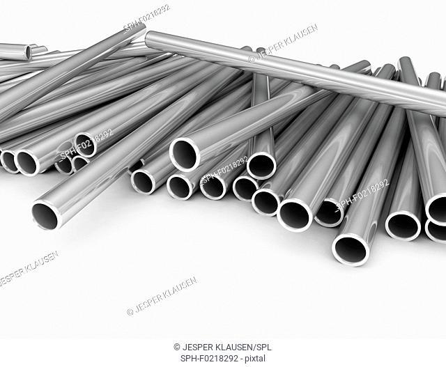 Metal pipes, illustration