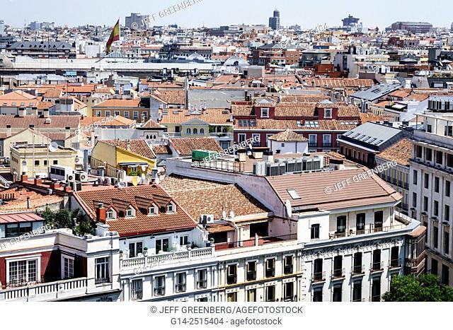 Spain, Europe, Spanish, Madrid, Centro, Retiro, Plaza Cibeles, Palacio de Comunicaciones, Palace of Communications, Terraza-mirador del Palacio de Cibeles
