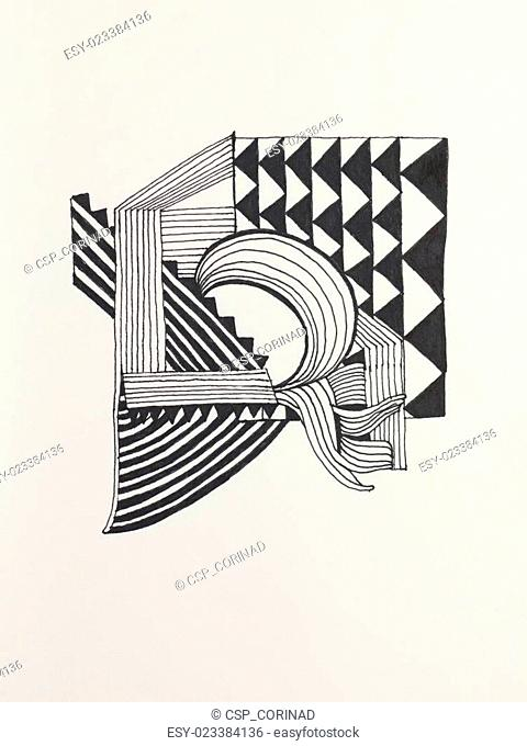 abstract black-and-white illustration