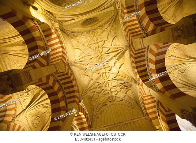 Cordoba, Spain. Interior of the Great Mosque