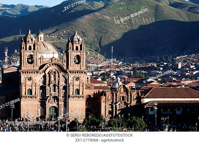 Cuzco Cathedral in the Plaza de Armas. Cuzco. Situated in the Peruvian Andes, Cuzco developed, under the Inca ruler Pachacutec