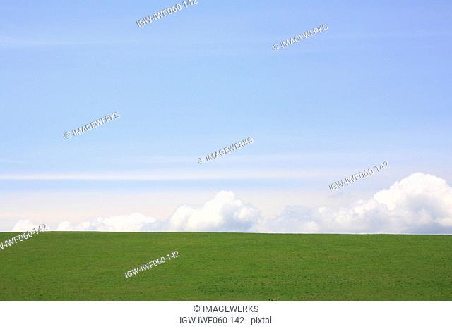 Japan, Hokkaido, Biei, View of landscape