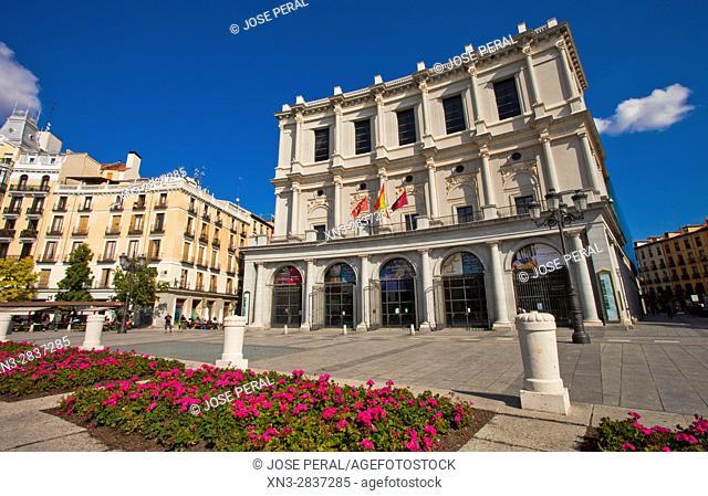 Royal Theatre, Plaza de Oriente, Madrid, Spain