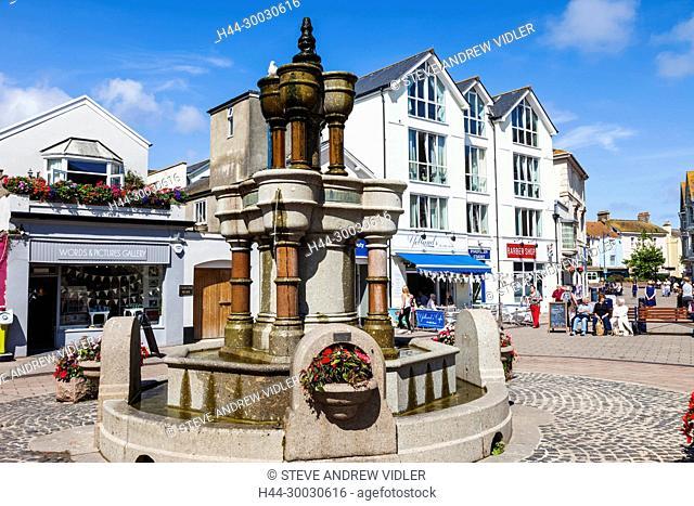 England, Devon, Teignmouth, Teignmouth Triangles Fountain