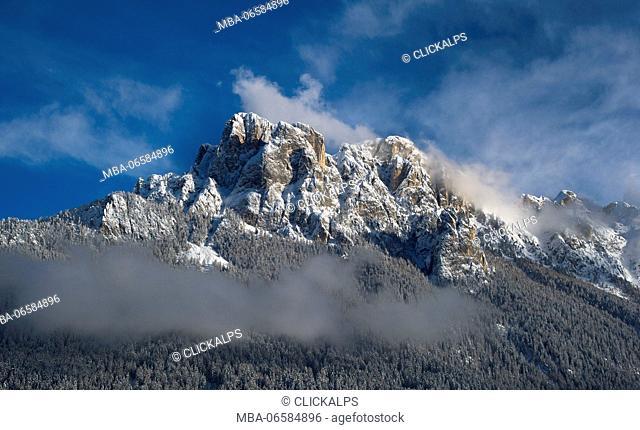 Europe, Italy, Trentino, Dolomites, Fassa Valley, Cima Dodici