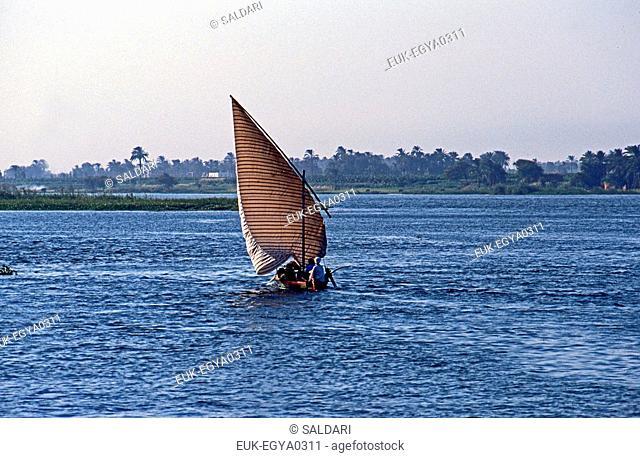 Felucca on the Nile,Egypt