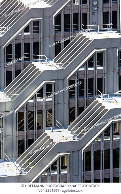 Close up of skyscrapers in San Francisco, California, USA