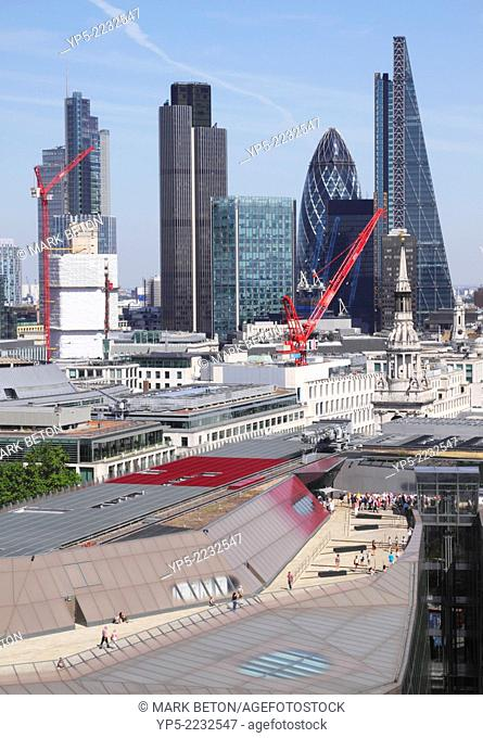 London financial district skyline, England, UK