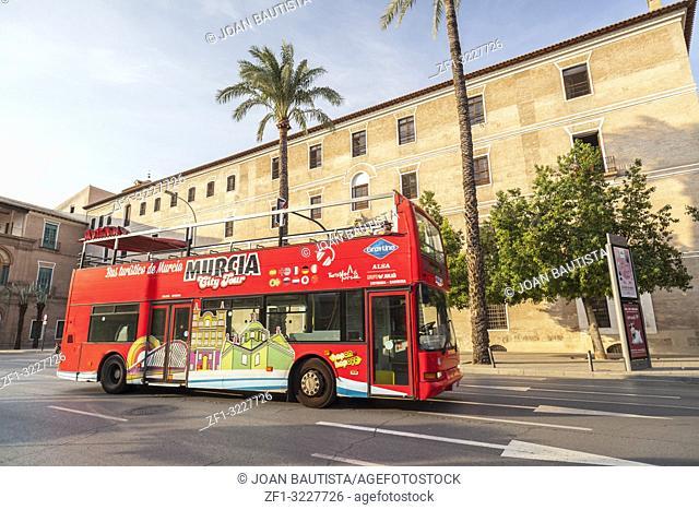 Touristic tour bus,street view,Murcia,Spain