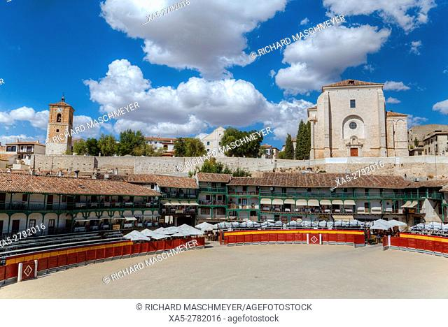 Plaza Mayor with converted Bullring, Chinchon, Spain