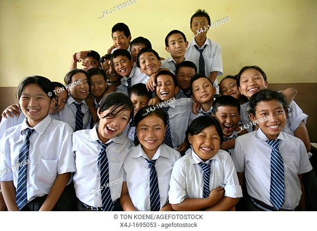 All Tibetan children in Nepal refugees are going to special Tibetan boarding schools where they are thought
