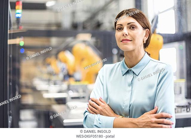 Businesswoman working in high tech company, portrait