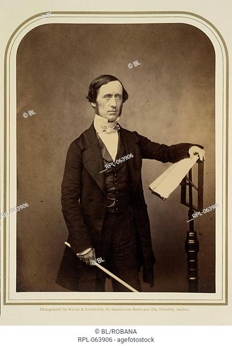 Sir William Sterndale Bennett Esq. Mus. 1816-1875. Portrait. English pianist and composer. Image taken from Photographic Portraits of Living Celebrities...
