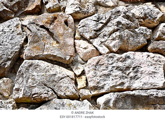 close up stone texture with cracks