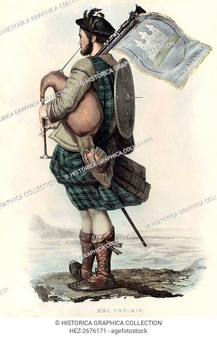 Mac Cruimin, from The Clans of the Scottish Highlands, pub. 1845 (colour lithograph)