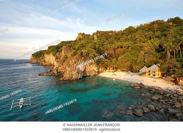 Philippines, Visayas, Cebu, Apo island beach and resort