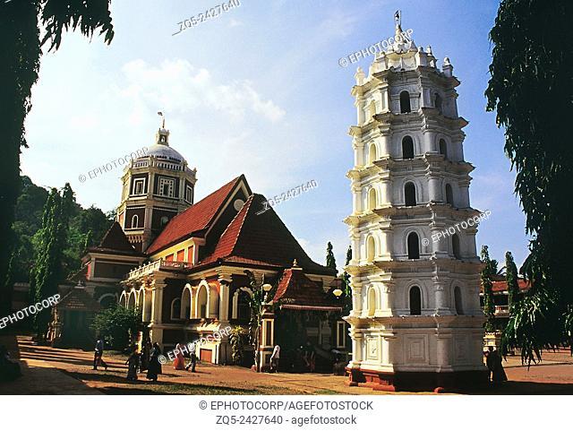 Shanta-Durga Temple. Kavale, Goa, India