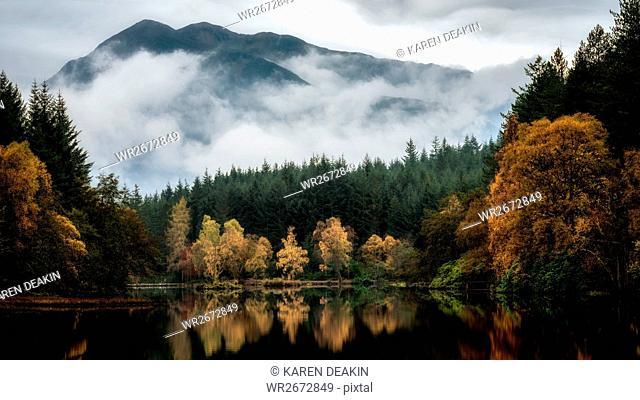 Glencoe Lochan in autumn, Highlands, Scotland, United Kingdom, Europe