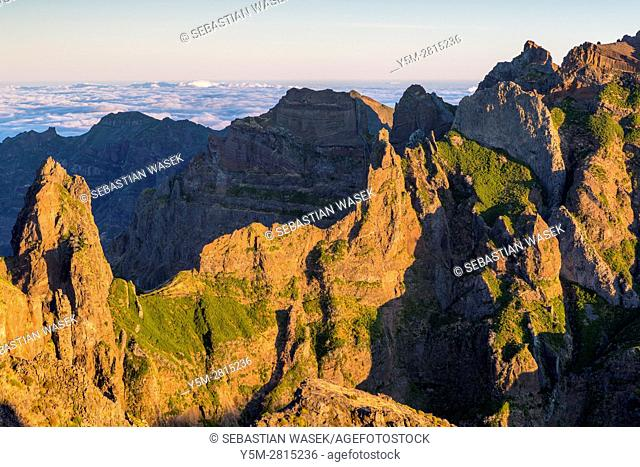Sunrise seen from Pico do Arieiro, Madeira, Portugal