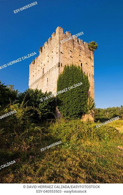Medieval tower in Espinosa de los monteros, Burgos, Spain