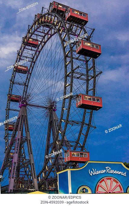 ferris wheel at the prater amusement park