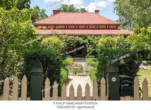 Victorian-era cottage in Beechworth, NE Victoria, Australia