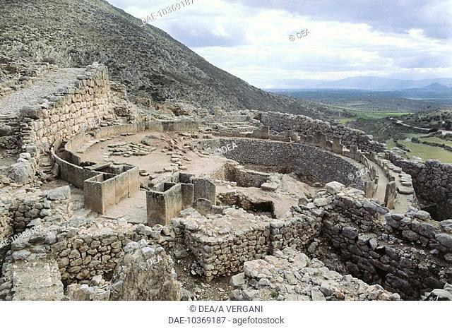 Greece - Mycenae - Fence, royal tombs